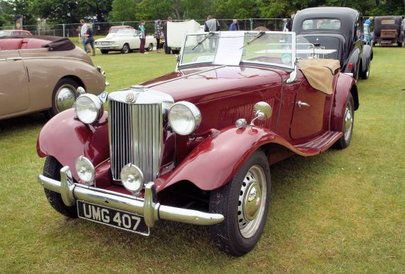 MG TD at Tain Show in 2016