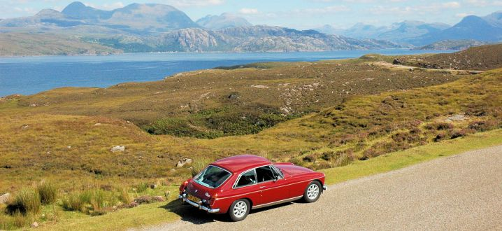 MGB GT on the Applecross Coast Road