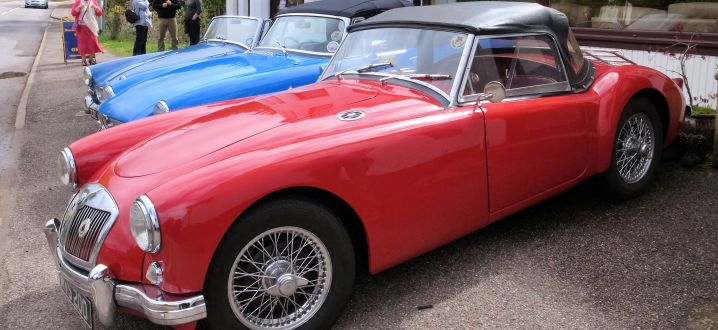 MGA, MGB and Midget at the Kinlochewe Hotel